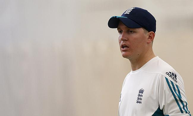 Gary Ballance in a net session ahead of the first Test at Lord's.