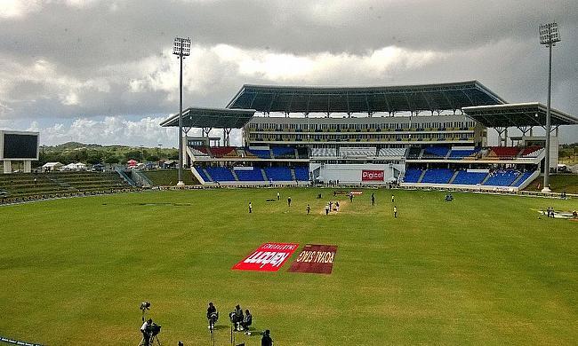 General view of the Sir Vivian Richards Stadium in Antigua