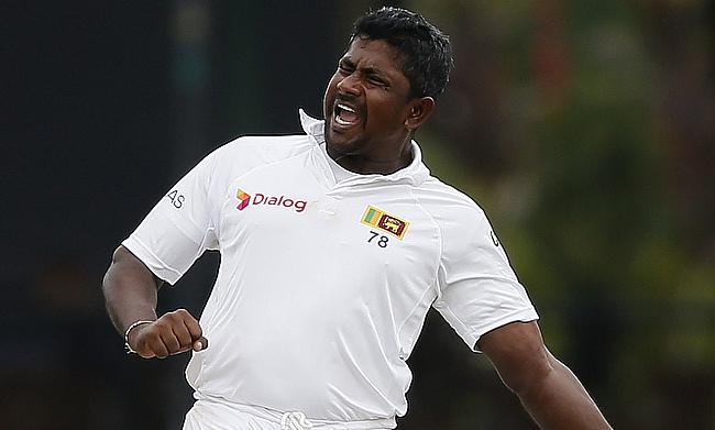 Rangana Herath picked four wickets for Sri Lanka on day two.