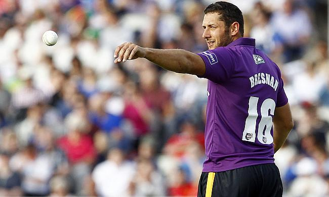 Tim Bresnan took two wickets and then hit a career best with the bat to help Yorkshire beat Nottinghamshire