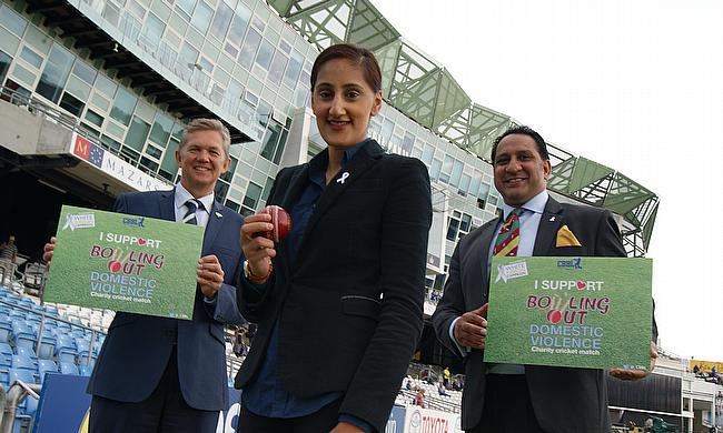 L-R: YCCC CEO Mark Arthur, CBBL director Halima Khan and White Ribbon's Ikram Butt