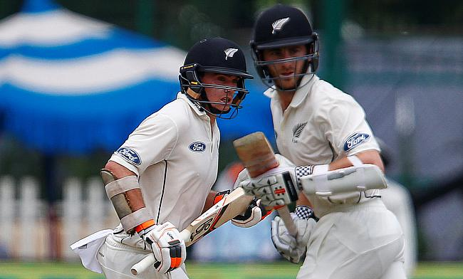 Williamson, Latham fifties power New Zealand reply on a rain-hit day two