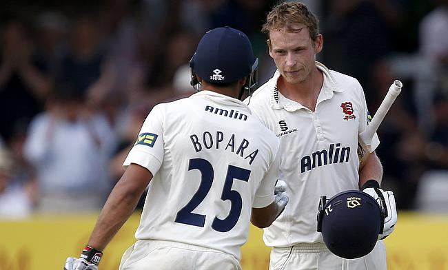 Tom Westley (right) top scored for Essex in the 2016 season with 1435 runs from 18 first-class matches.