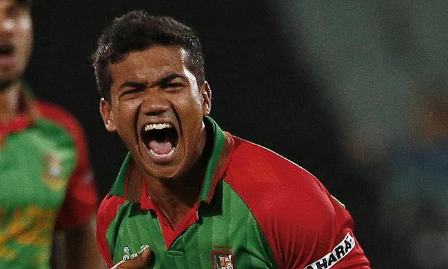 Taskin Ahmed picked four wickets in his final two overs.