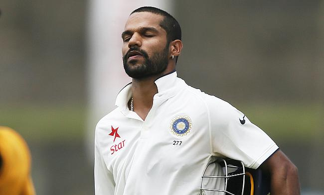 Shikhar Dhawan ruled out of Indore Test