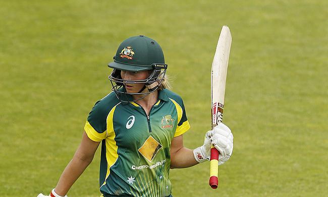 Meg Lanning century secures 66-run victory for Australia Women