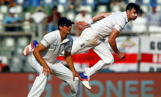James Anderson (right) will miss the final Test of the series for England