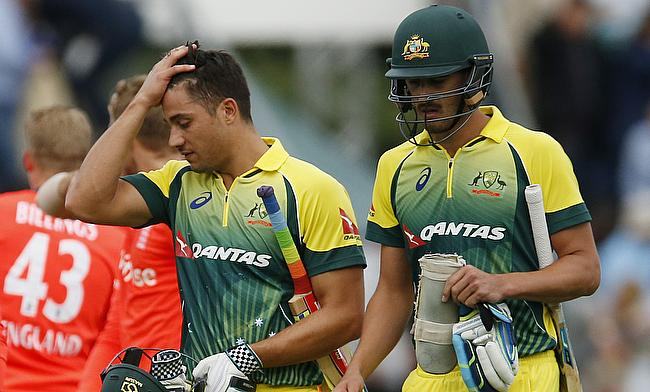 Marcus Stoinis (left) will join the squad in Perth after the completion of Tuesday's BBL game