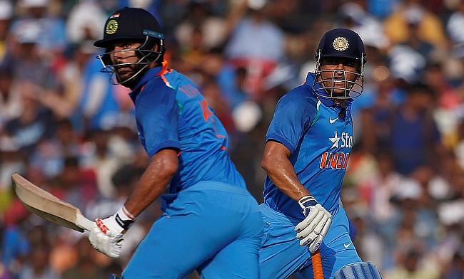 The Yuvraj-Dhoni combo helped India post 381 runs with a 256-run stand