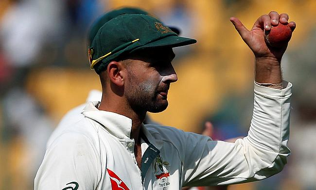 Nathan Lyon was outstanding for Australia in Bengaluru