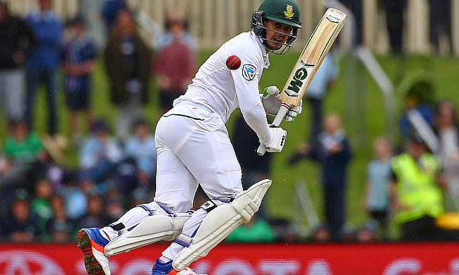 Quinton de Kock picked up a finger injury during the second Test