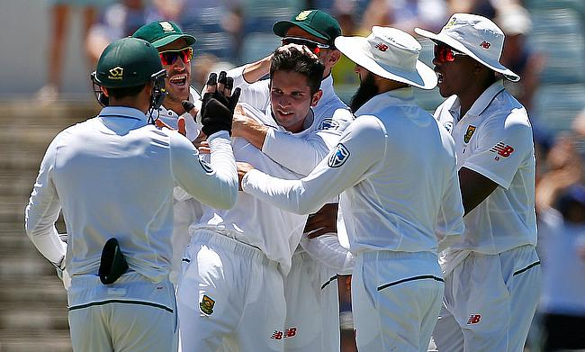 Keshav Maharaj has picked 13 wickets in three innings for South Africa in the series