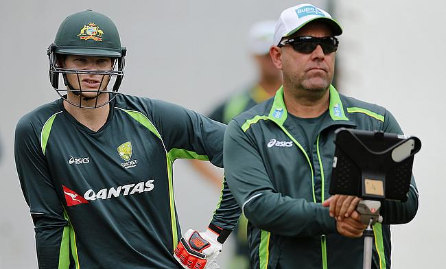 Darren Lehmann (right) also had high praises for Steven Smith (left)