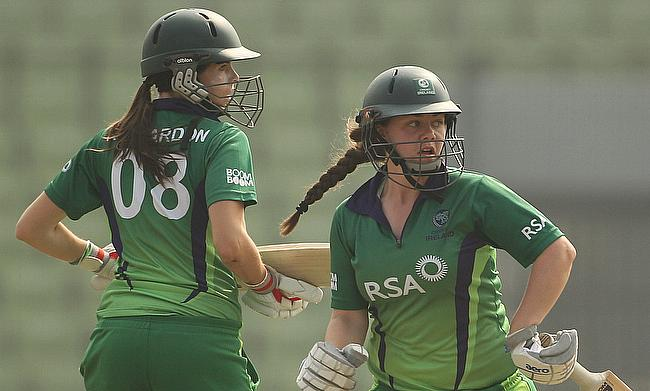 Laura Delany (right) top scored with a 81 run knock
