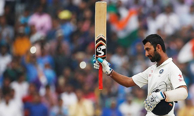 Cheteshwar Pujara scored a century in his second game this season