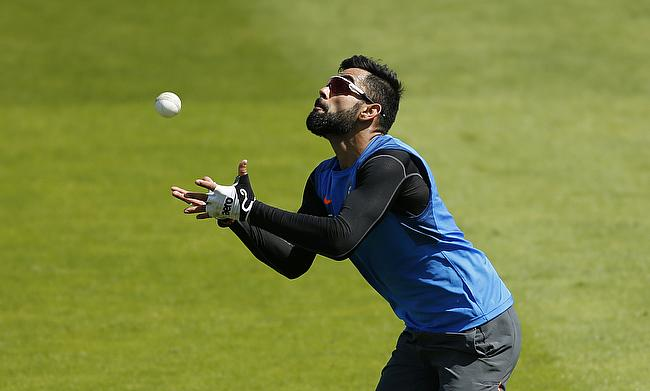 Virat Kohli during a practice session ahead of the game against Bangladesh