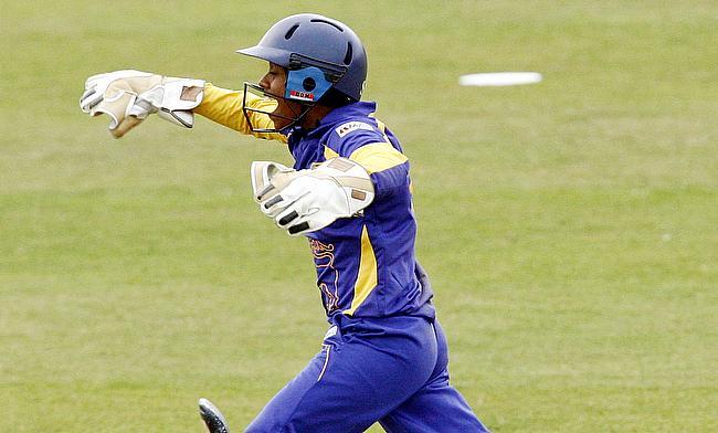 Dilani Manodara top scored for Sri Lanka