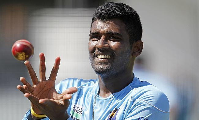 Thisara Perera picked three wickets for Gloucestershire