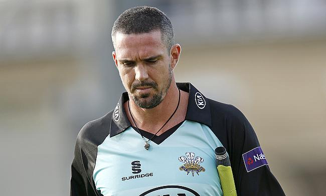 Kevin Pietersen suffered a calf injury during the game