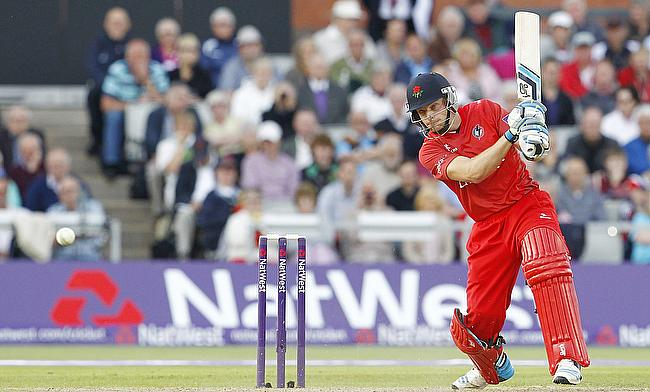 Jos Buttler scored a crucial half-century for Lancashire in the chase