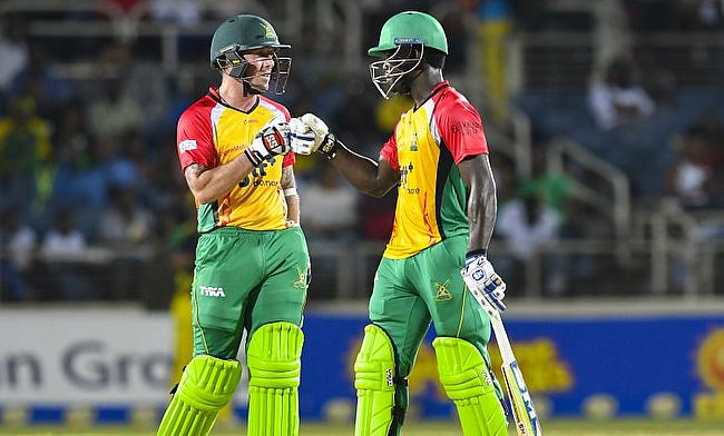 Luke Ronchi (left) and Chadwick Walton played blistering knocks for Guyana