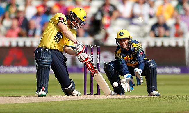 Ed Pollock (left) set up the victory for Warwickshire against Glamorgan