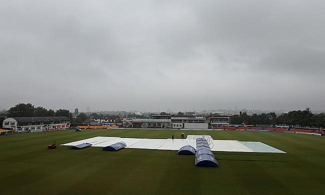 Rain played spoilsport on day two of the warm up game