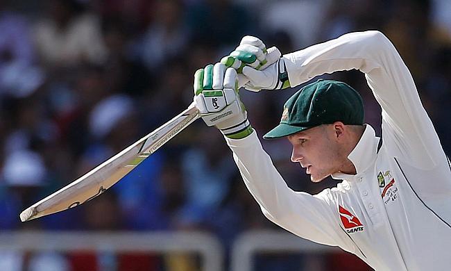 Peter Handscomb scored 82 runs in the innings