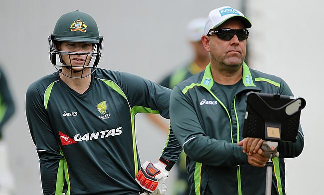 Darren Lehmann (right) is hoping to get his combinations right for the Ashes