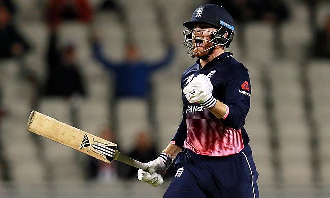 England's Jonny Bairstow celebrates his century