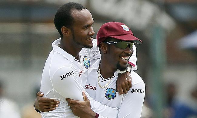 Kraigg Brathwaite (left) has been cleared to bowl in international cricket