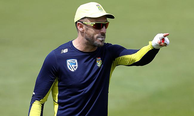 Faf du Plessis is expected to be available for the Boxing Day Test against Zimbabwe