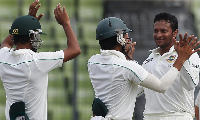 Shakib Al Hasan (right) will take in charge of Bangladesh Test side
