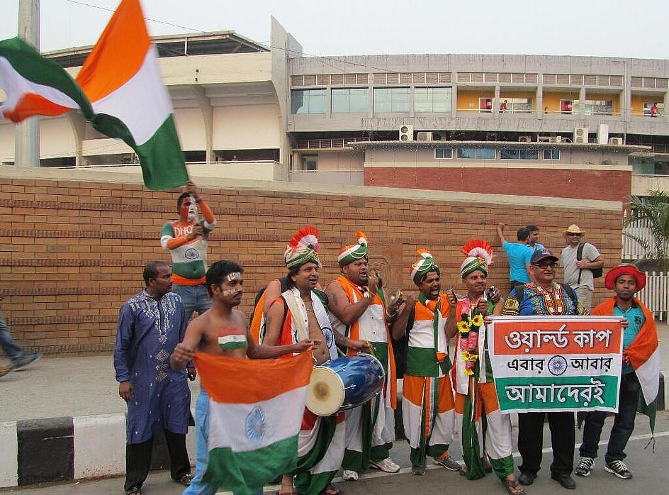 These guys came all the way from England to support India