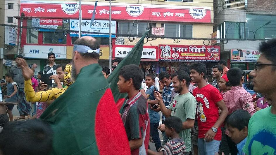 The fans have come in their numbers...but have been disappointed by hosts Bangladesh
