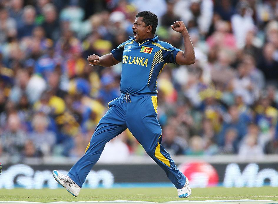 Rangana Herath delivered a remarkable spell of bowling to help Sri Lanka reach the semi-finals