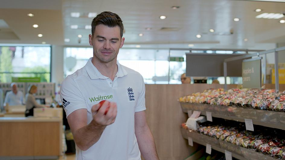 James Anderson inspects the 'new ball'