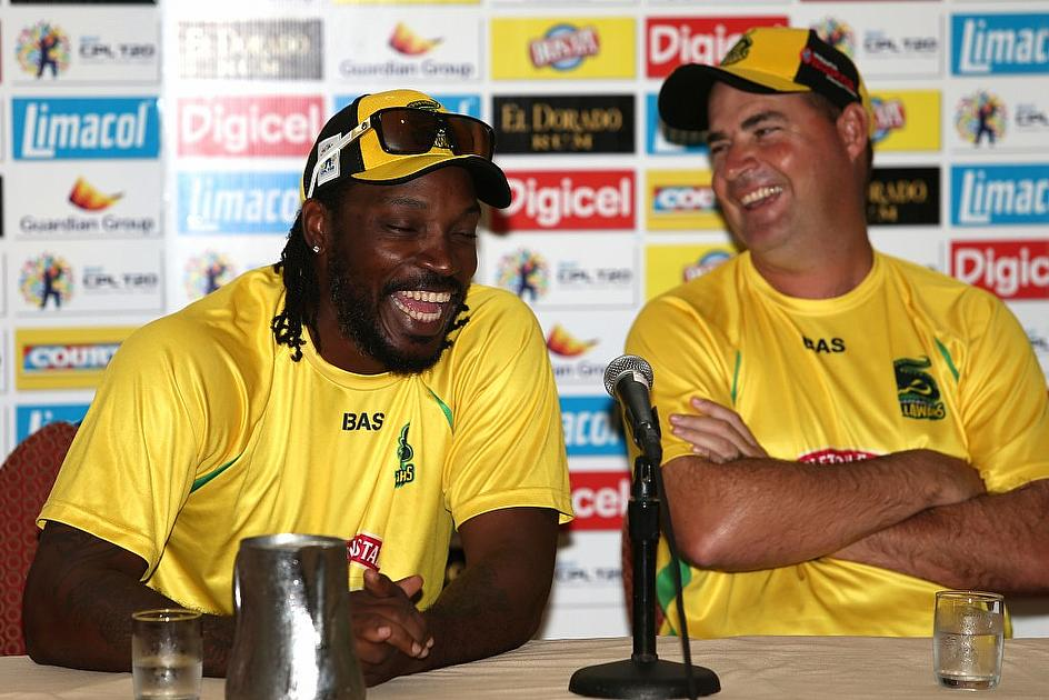 Chris Gayle (jokes) that he is looking forward to getting back into form by faving Dwayne Bravo's bowling