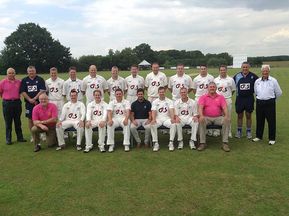 BPCC line up ahead of their match against the Midlands Club Cricket Conference