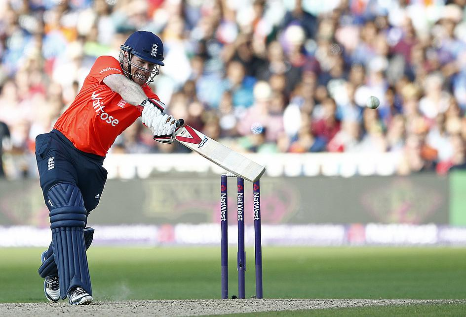 Eoin Morgan's 71 in 31 balls guided England to a winning score