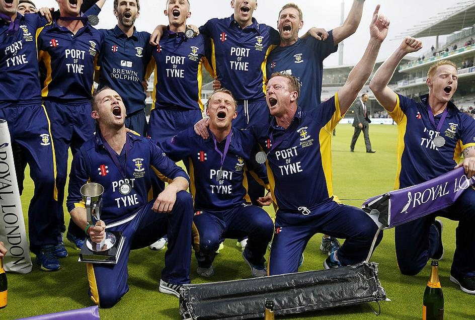 Durham celebrate at Lord's