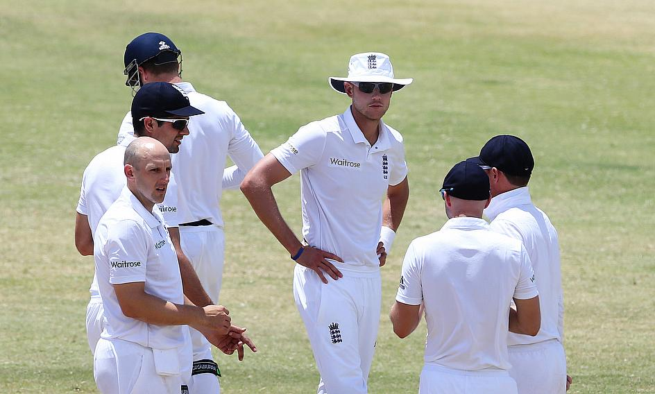 England in action in St Kitts
