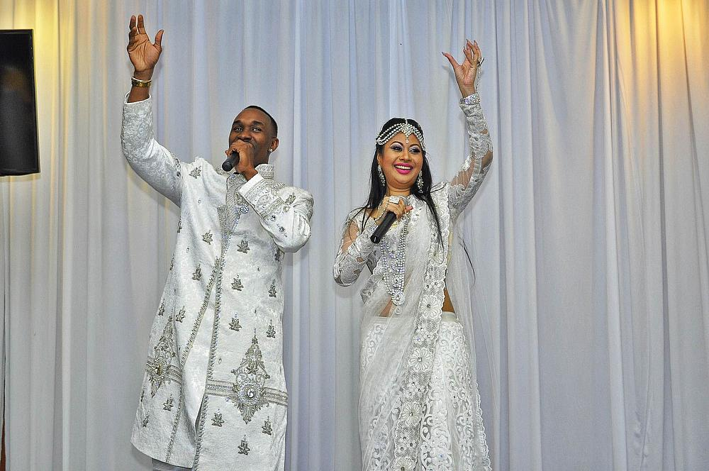 The music video features Dwayne Bravo (left) and Nisha B
