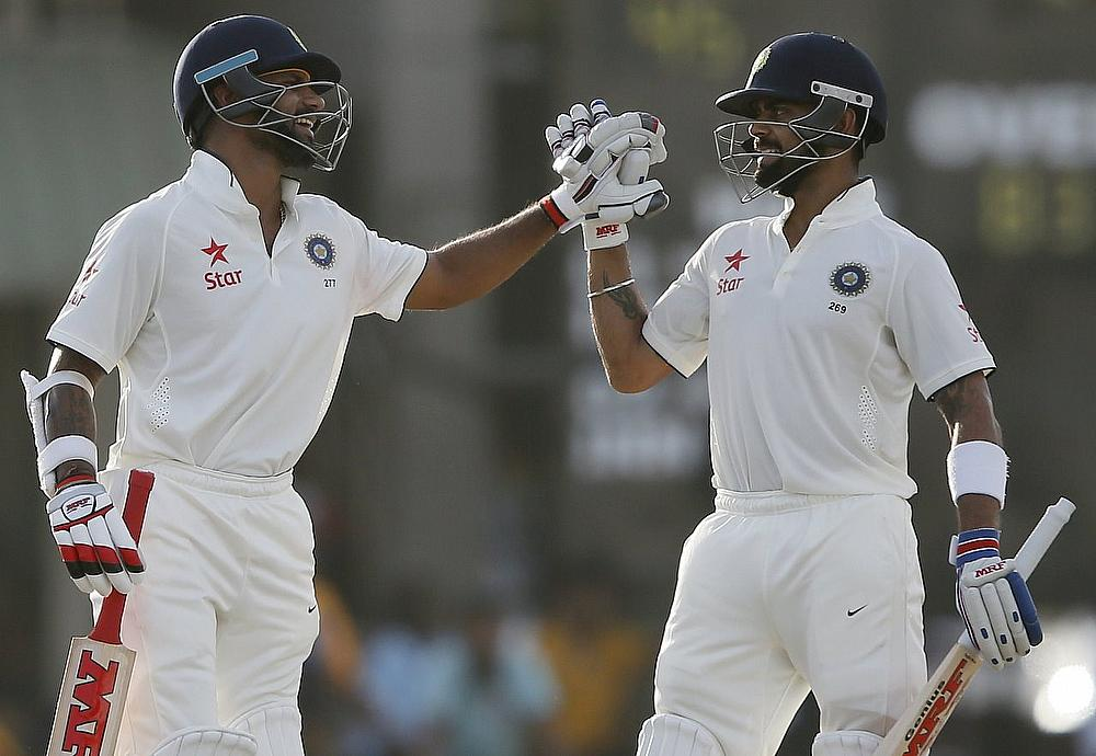 Shikhar Dhawan (left) and Virat Kohli
