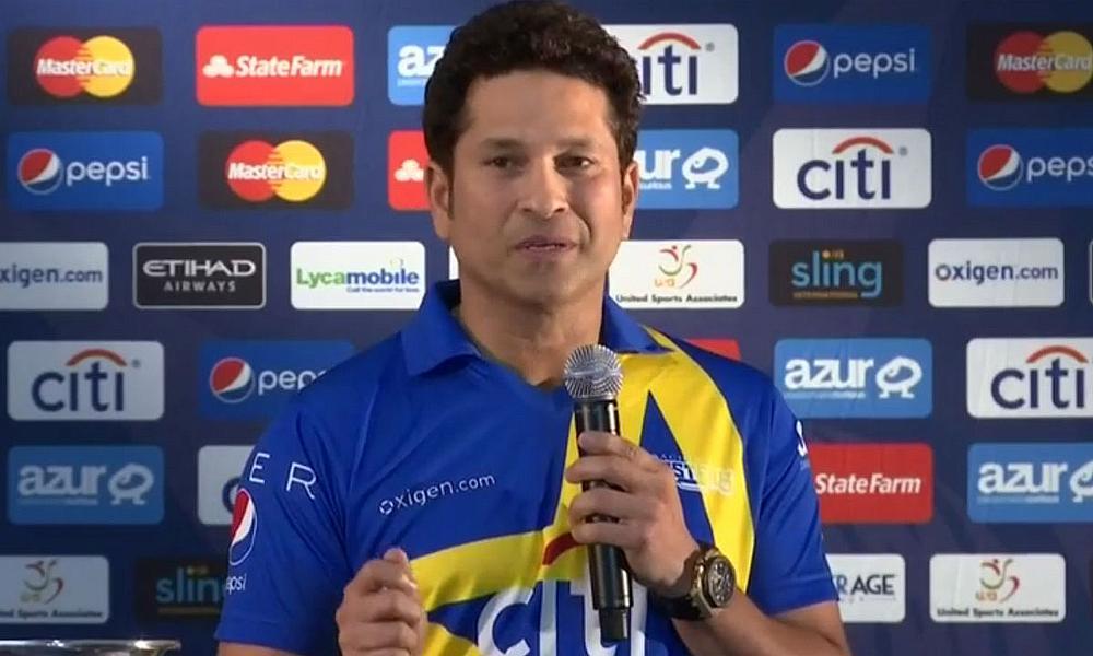 Sachin Tendulkar in New York ahead of the Cricket All-Stars opener