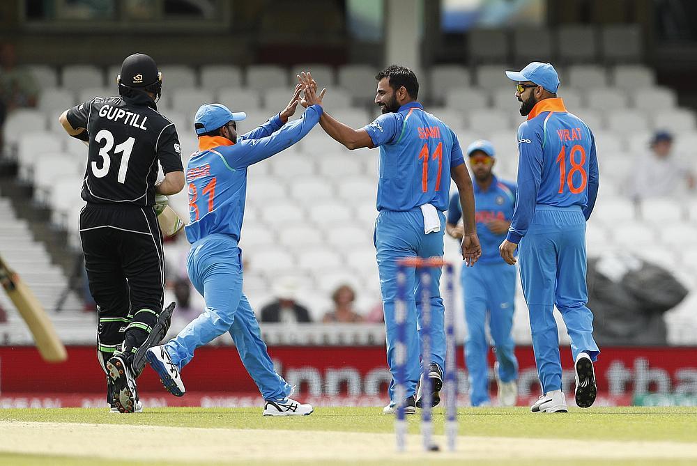 India beat NZ by 45 runs via D/L method in warm-up tie