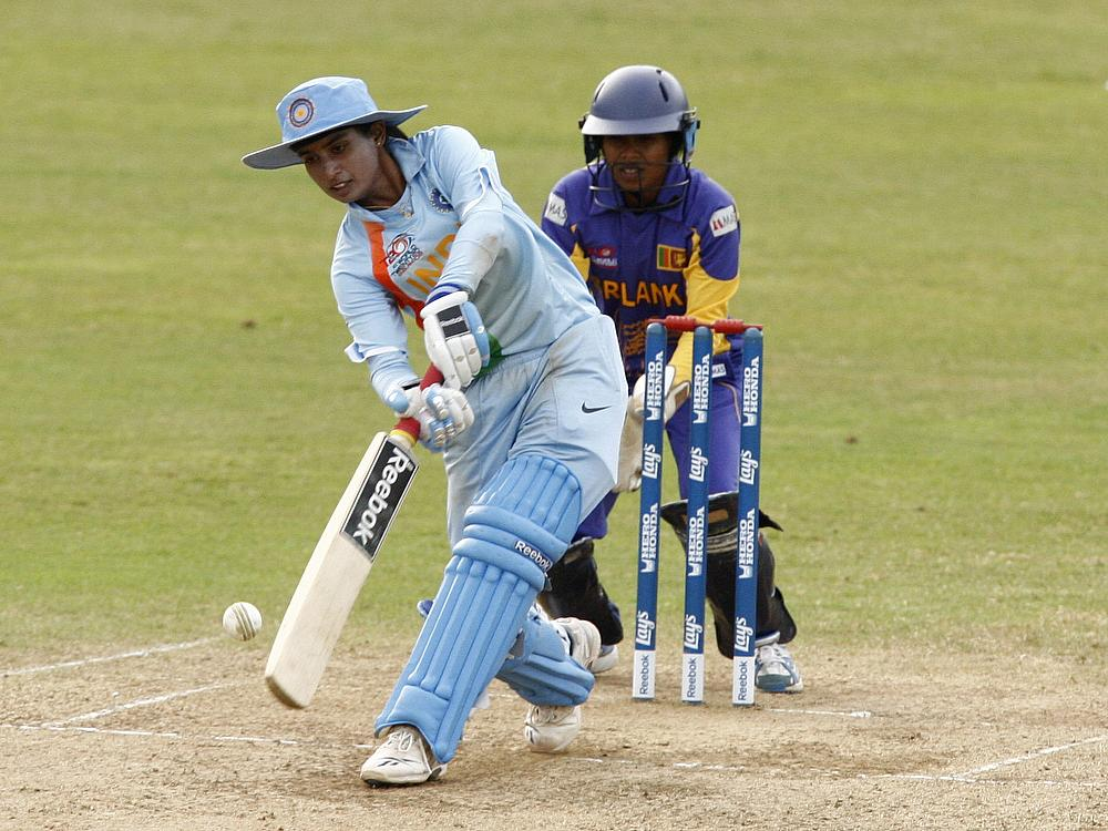 Indian eves post 281 against England