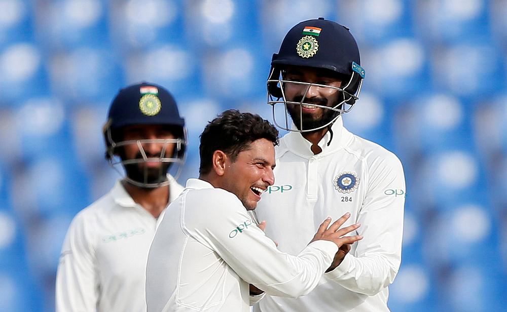 Kuldeep Yadav picked a four wicket haul