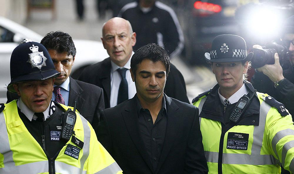 Former Pakistan cricket test captain, Salman Butt, arrives at City of Westminster Magistrates Court in central London
