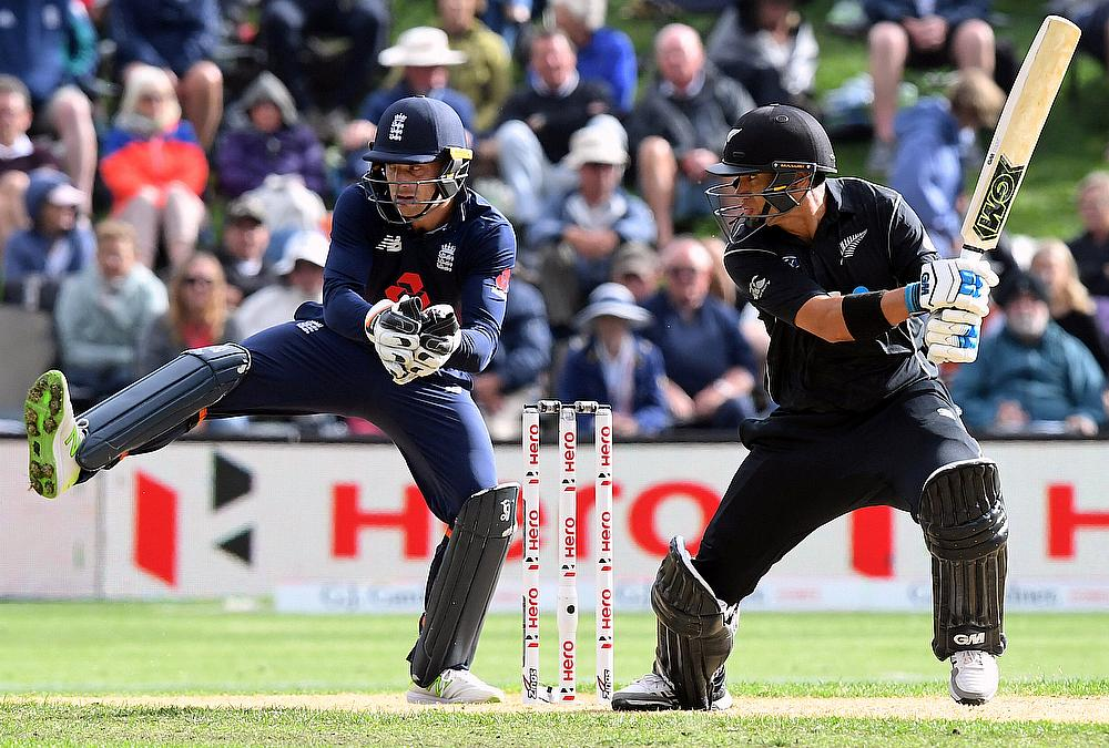New Zealand held to 223 despite Santner, Nicholls fifties